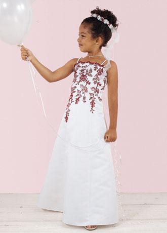 Apple Red Flower Girl Dresses